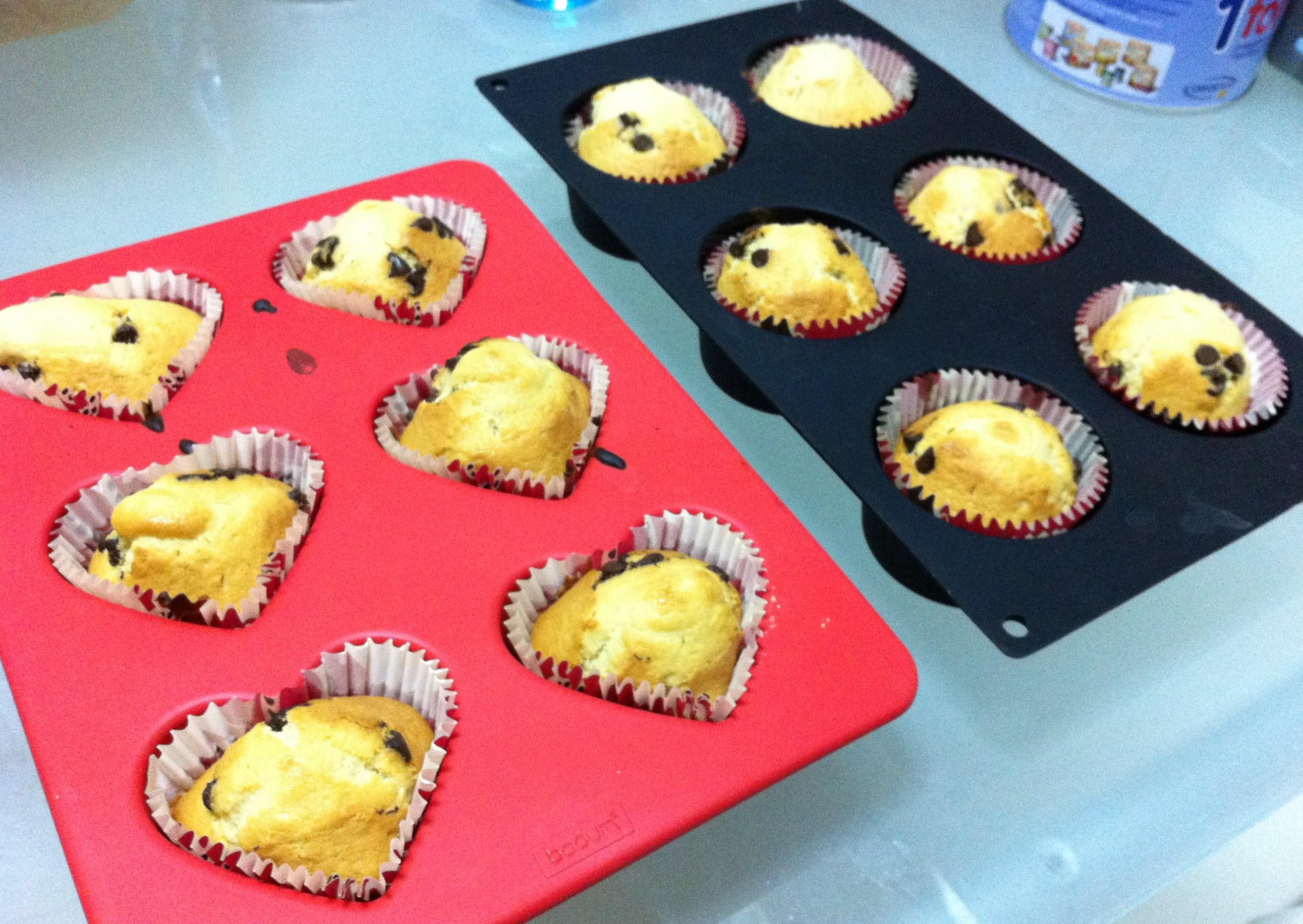 Cupcakes al salir del horno