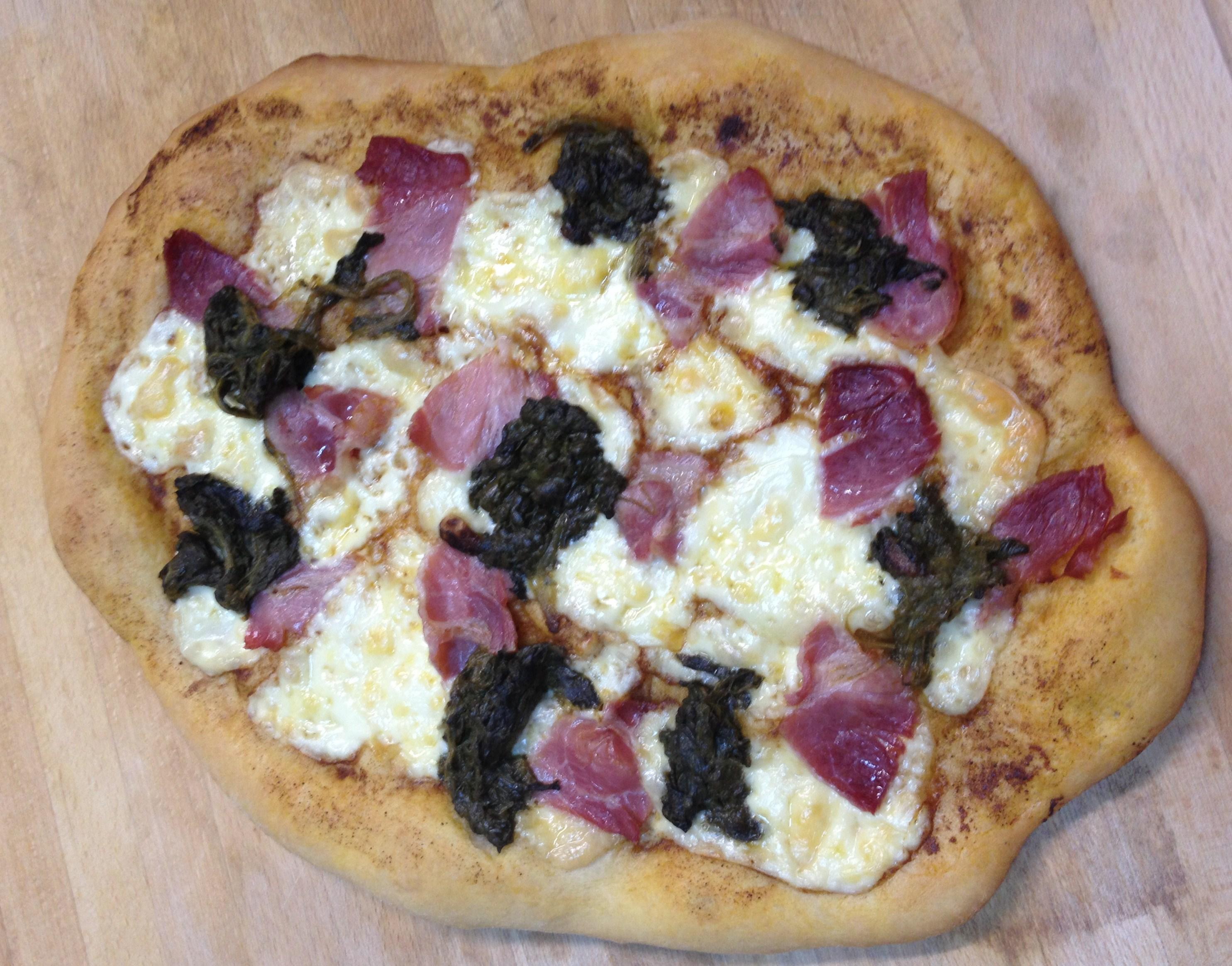 Pizza de Lacón con Grelos de Thermomiss