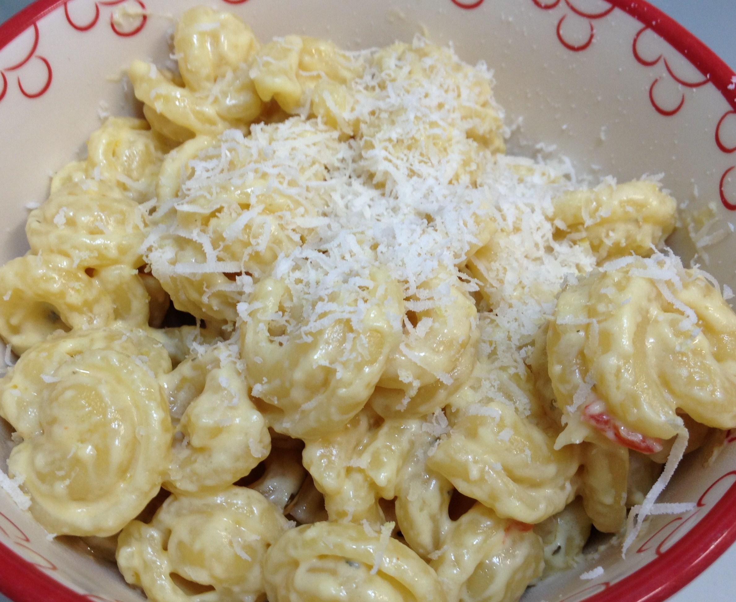 Macarrones con queso caseros