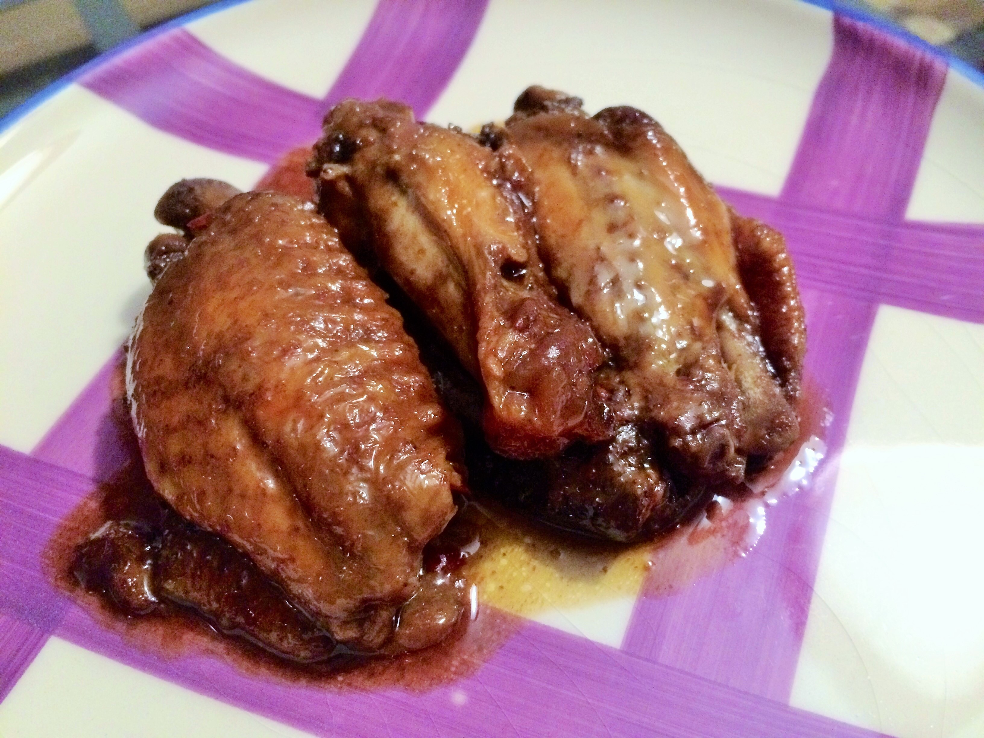 "Alitas ""Sticky wings"" en crockpot"
