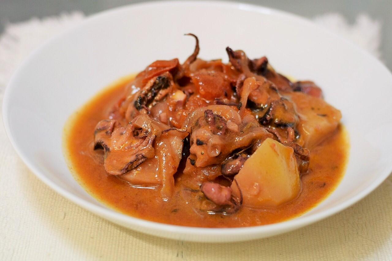 Guiso de Pulpo con Chorizo