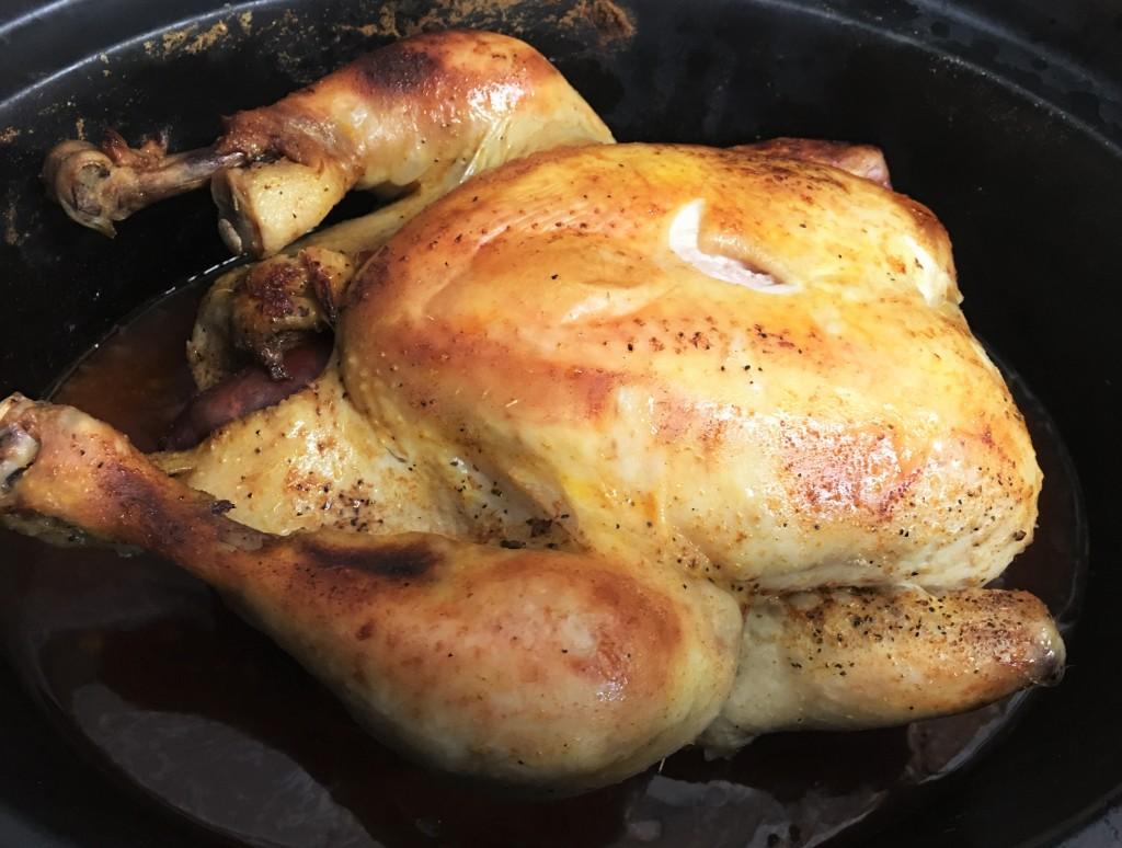 Receta de pollo a la sidra en olla lenta