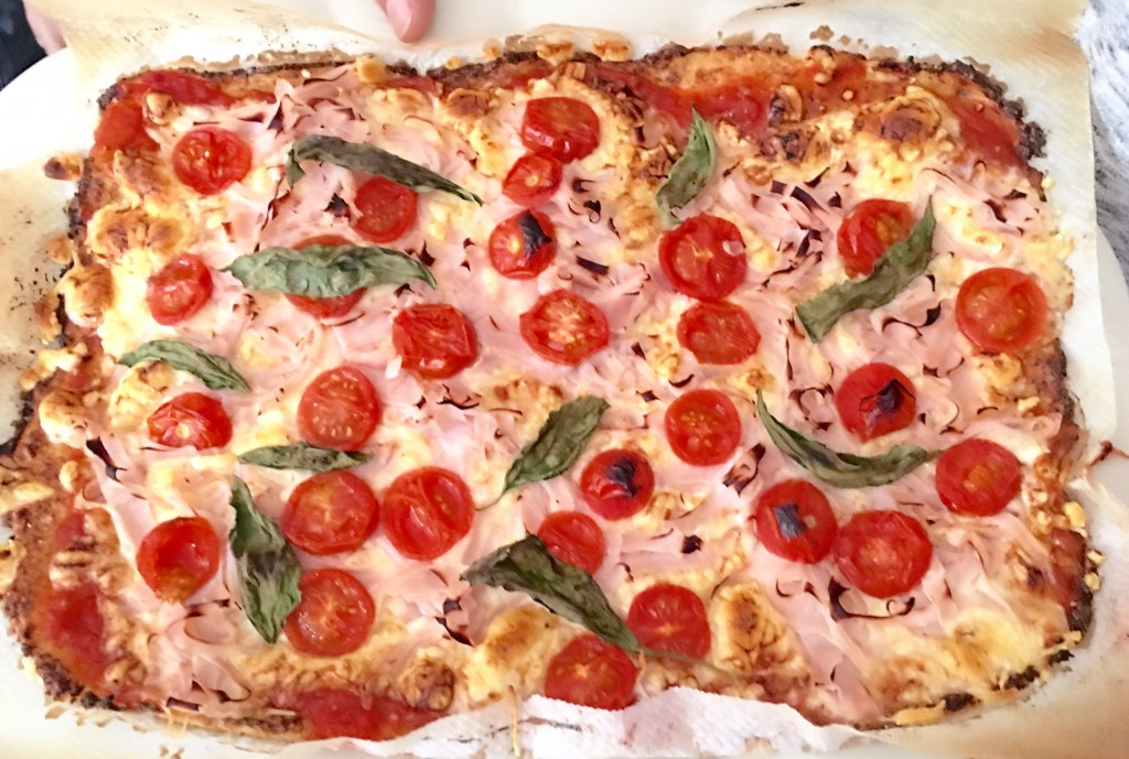 Pizza ligera con coliflor