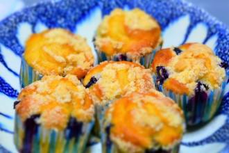 Muffins de arándanos preparados con Thermomix