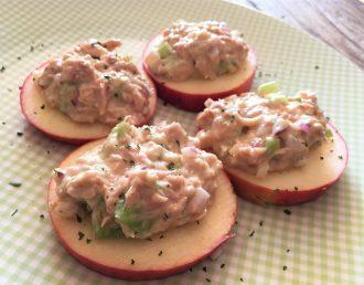 Cómo preparar una divertida ensalada de atún y manzana