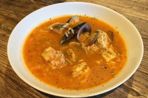 Receta rápida en Thermomix de sopa de pescado y marisco