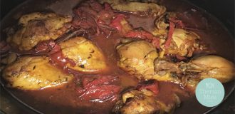 Receta de crockpot de pollo al achiote